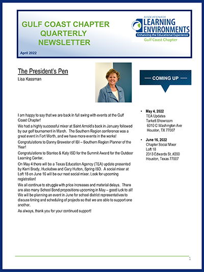 Gulf Coast Newsletter